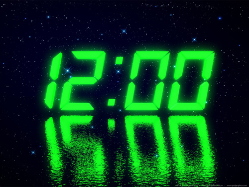 LED clock widget